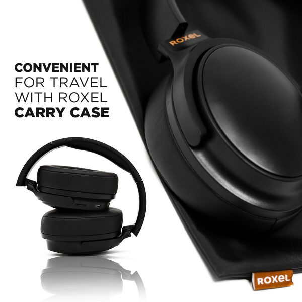 Roxel H500BT Wireless Over Ear Headphone with Microphone, USB Charging , Black